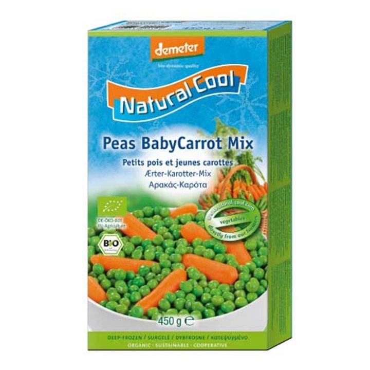 Деметер замразени грах и бейби моркови 450г