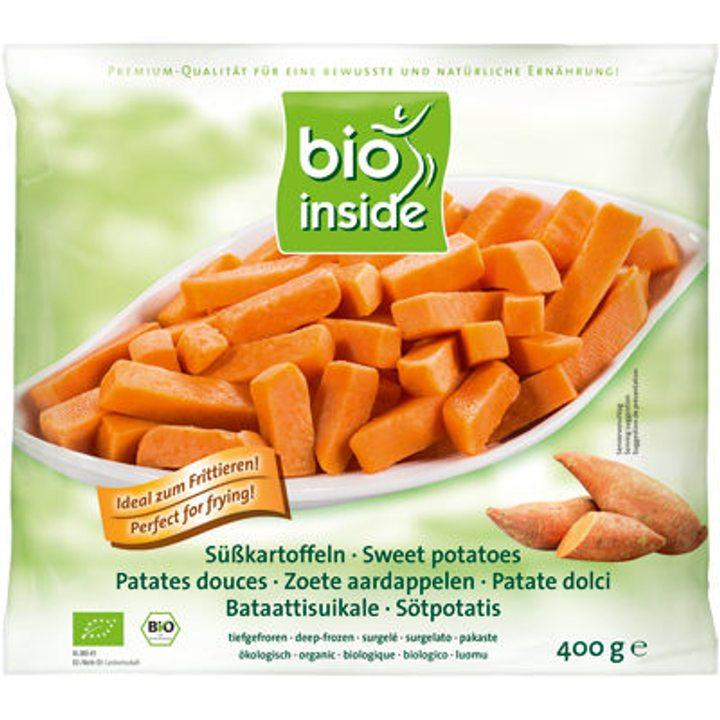 Био замразени сладки картофи, нарязани 400г