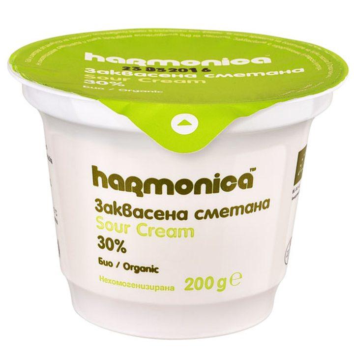 Био заквасена сметана Хармоника 30% - 200г