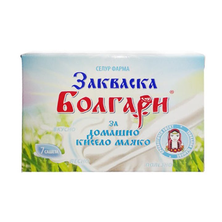 Закваска Болгари за домашно кисело мляко 7 сашета