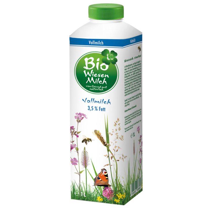 Био пълномаслено мляко с 3,5% масленост - 1л