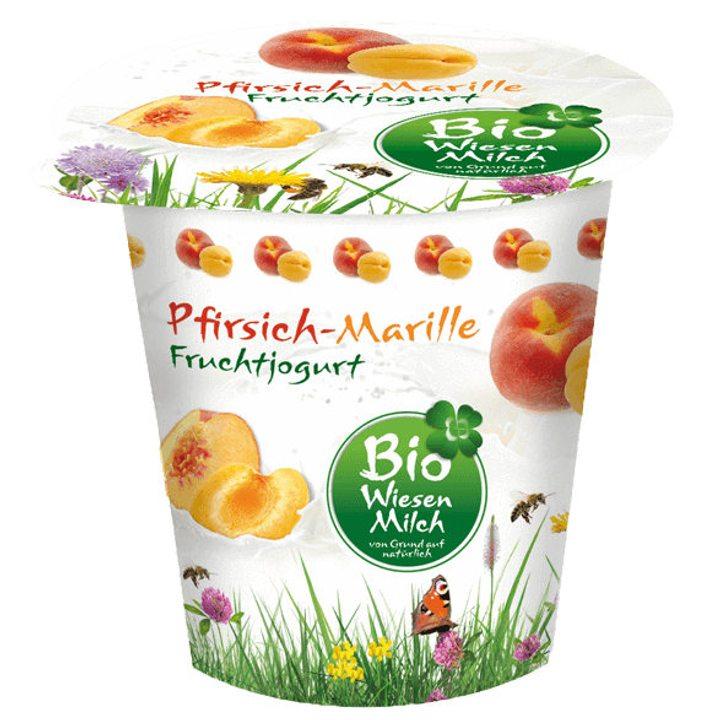 Био йогурт с праскови и кайсии 150г