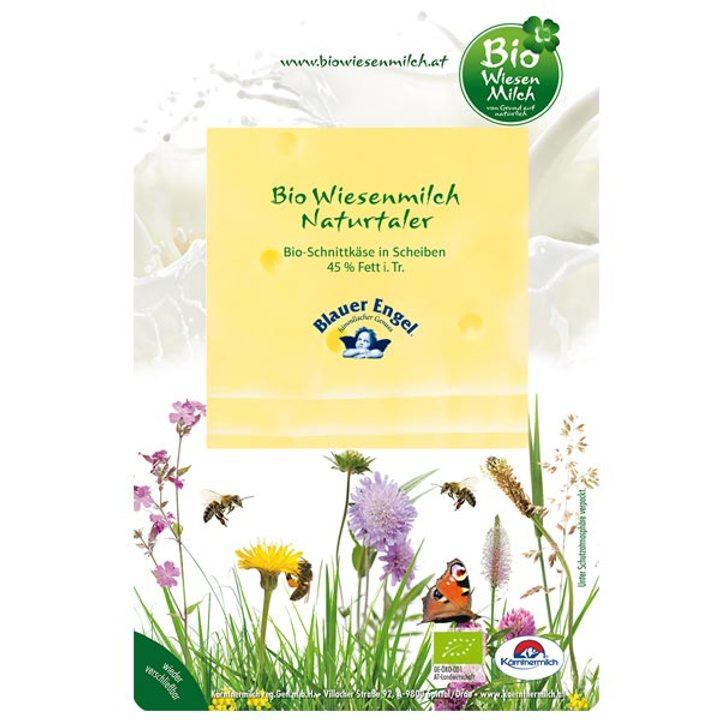 Био австрийско сирене 45% масленост слайс 100г