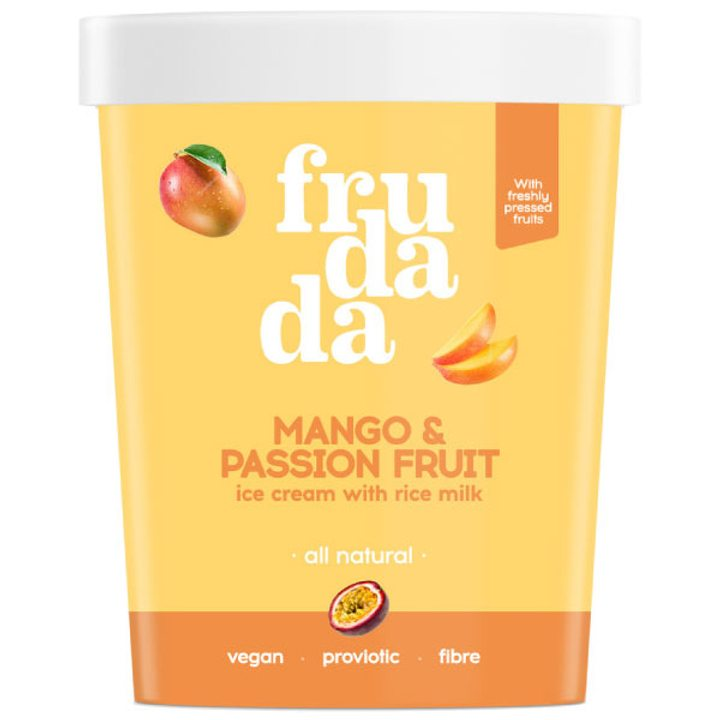 Натурален сладолед манго и маракуя 350г