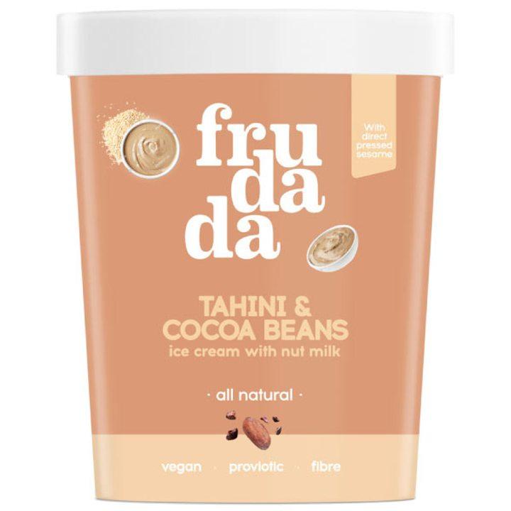 Натурален сладолед тахан и какаови зърна 350г