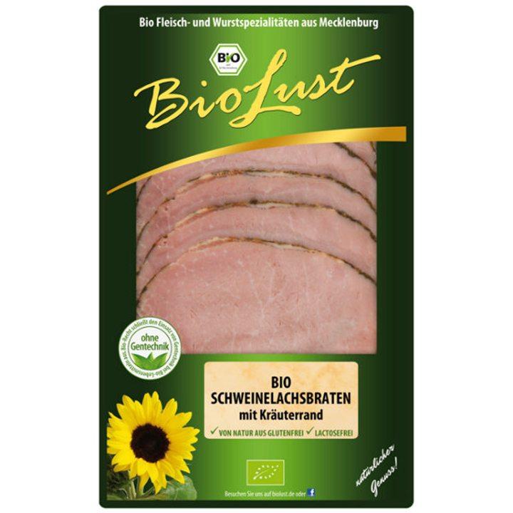 Био печено свинско филе в билки 80г