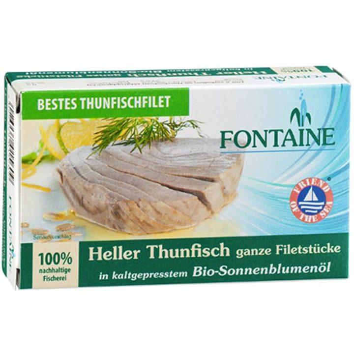 Леко филе от риба тон в био студено пресовано слънчогледово олио 120г