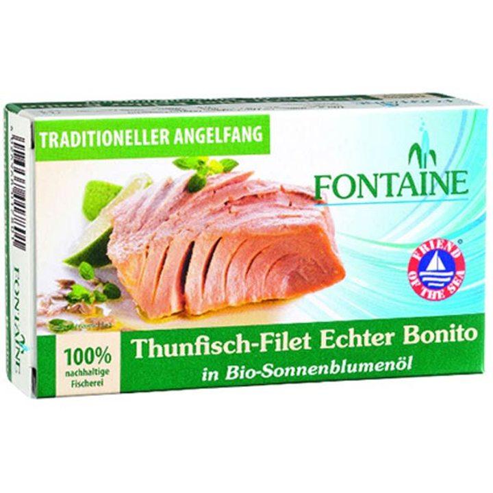 Филе от риба тон в био слънчогледово олио 120г