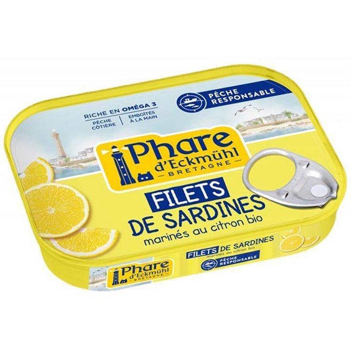 Филета от сардини в био марината с лимон 90г