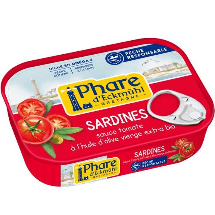 Сардини в био доматен сос 135г