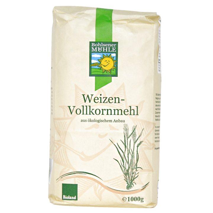 Био пълнозърнесто пшенично брашно 1кг
