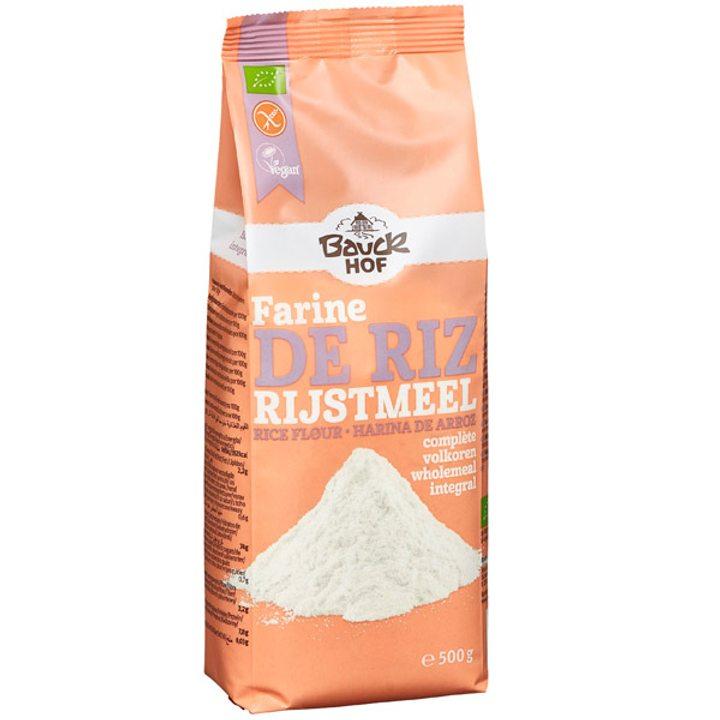 Био пълнозърнесто оризово брашно без глутен 500г