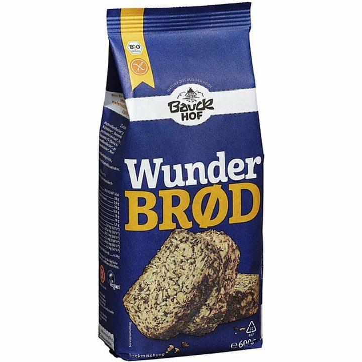 Био смес за хляб пълнозърнест без глутен 600г