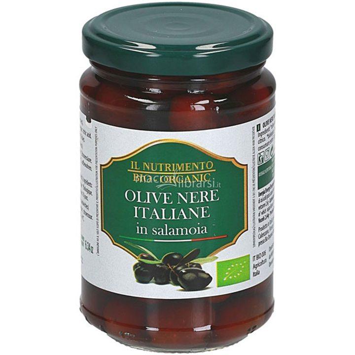 Био черни маслини в саламура 280г