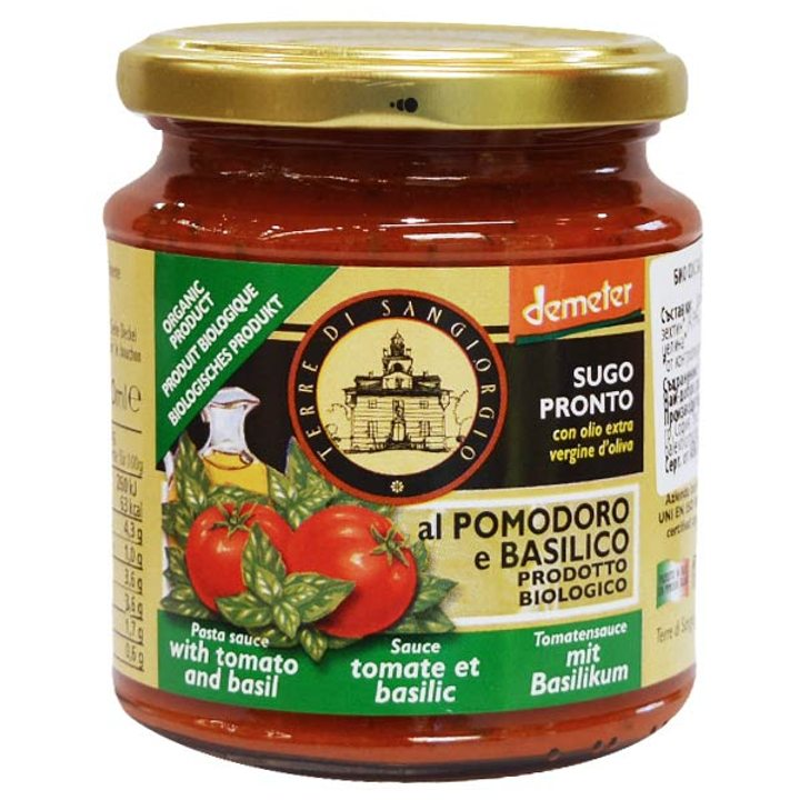 Био сос за паста с домати и босилек 300г