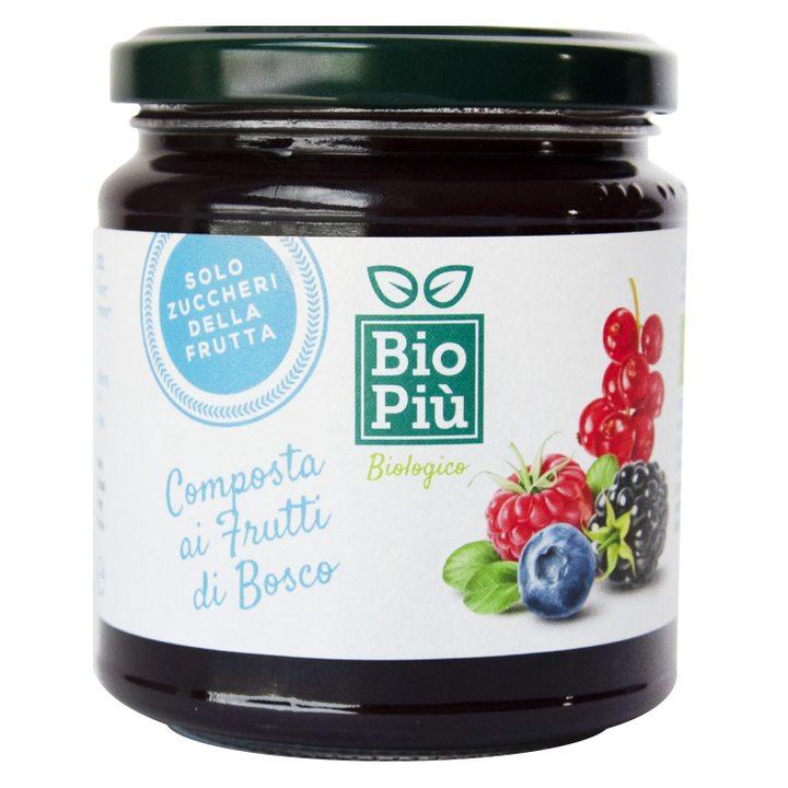 Био конфитюр горски плодове без захар 320г
