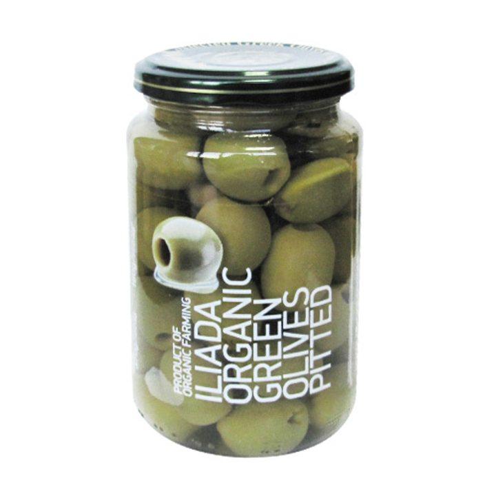 Био зелени маслини без костилка 370г