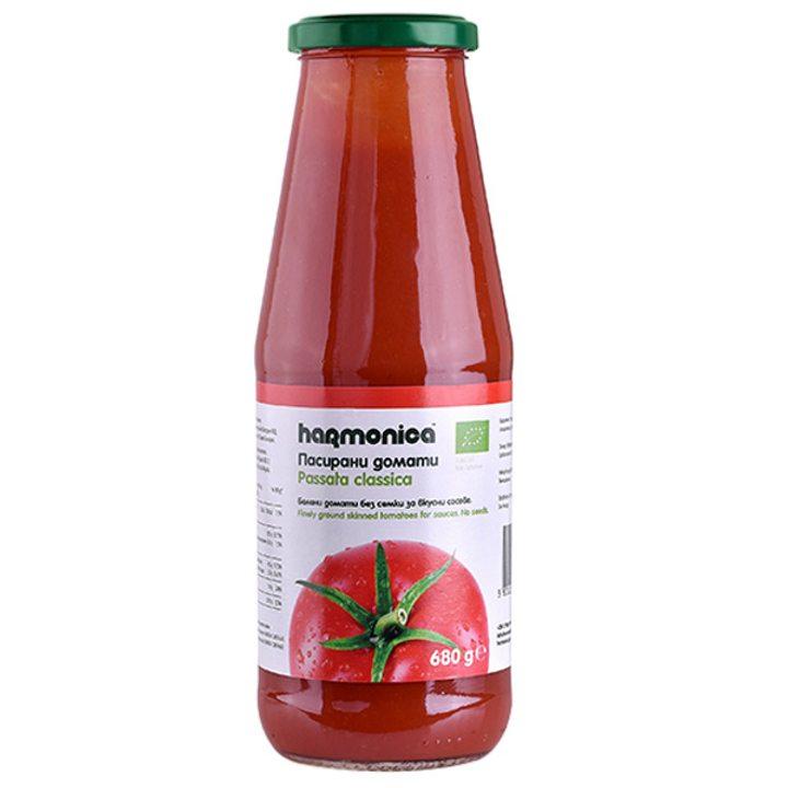 Био пасирани домати 680г