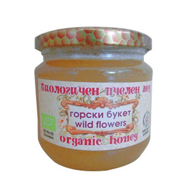Био пчелен мед горски букет 480г