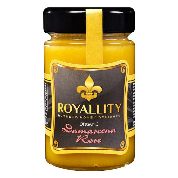 Био пчелен мед с био етерично масло от Роза Дамасцена 250г