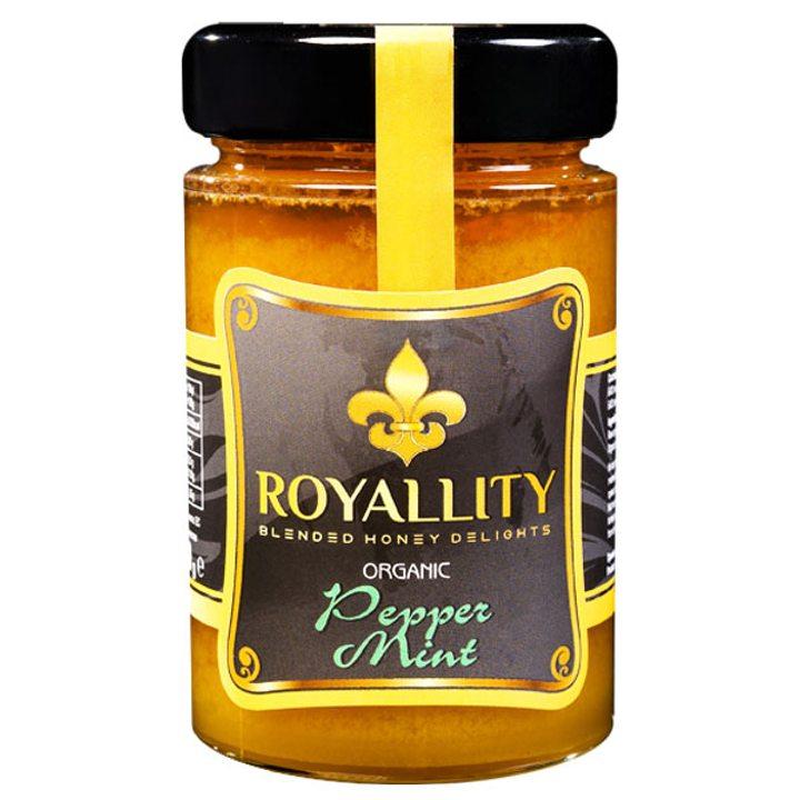 Био пчелен мед с био етерично масло от Мента 250г