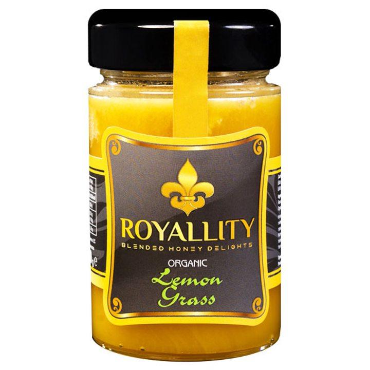 Био пчелен мед с био етерично масло от Лимонена Трева 250г
