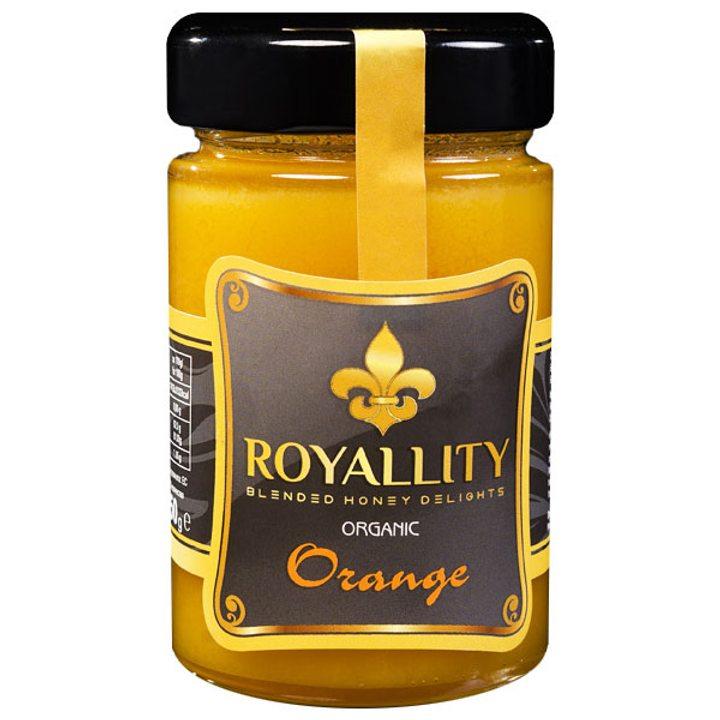 Био пчелен мед с био етерично масло от Портокал 250г