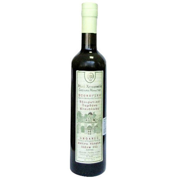 Био маслиново масло Extra Virgin от манастира Крисопиги 500мл
