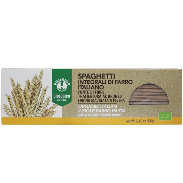 Био спагети от емер пълнозърнести 500г