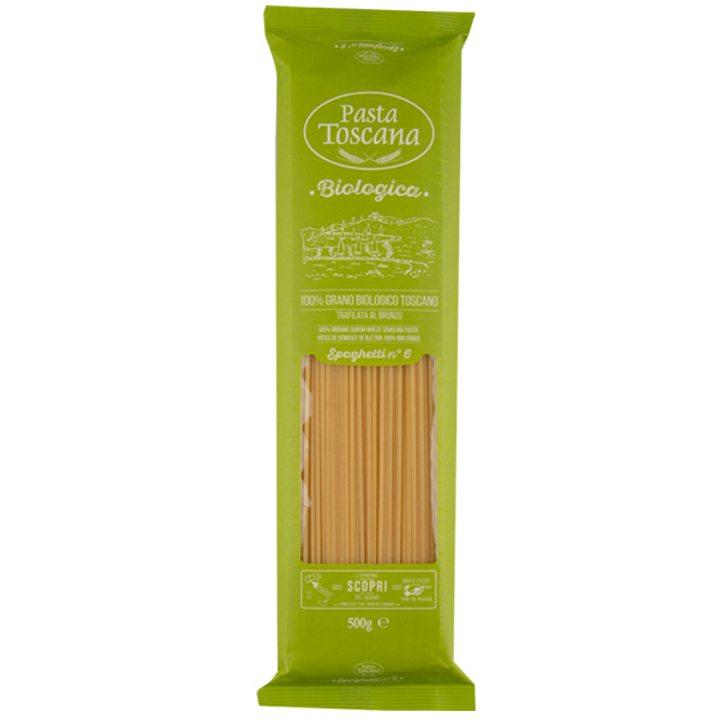 Био пшенични спагети 500г