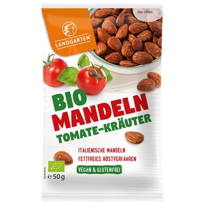 Био печени бадеми с домати и аромат на билки 50г