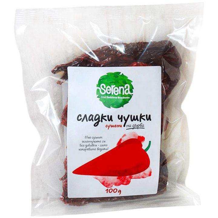 Сушени сладки чушки без семе 100г