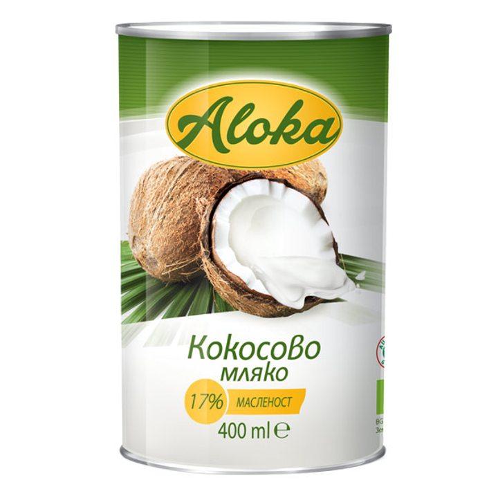 Био кокосово мляко 17% масленост 400мл