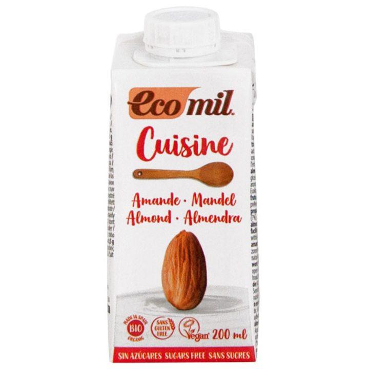 Био бадемова сметана за готвене без захар 200мл