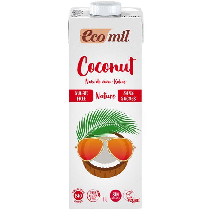 Био кокосова напитка натурална без захар 1л