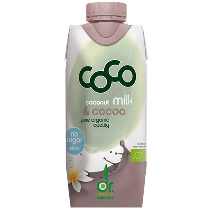 Био кокосово мляко с какао 330мл