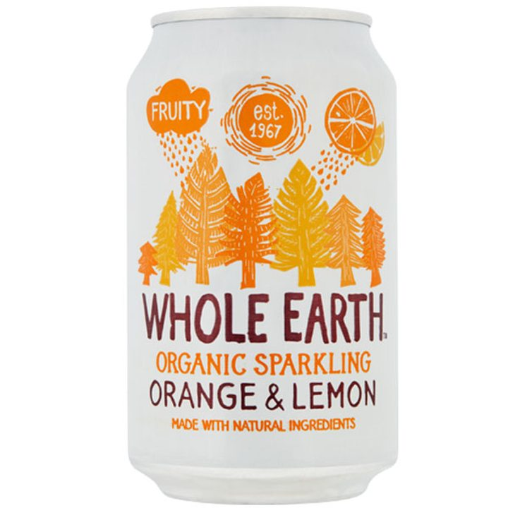 Био газирана напитка портокал и лимон 330мл
