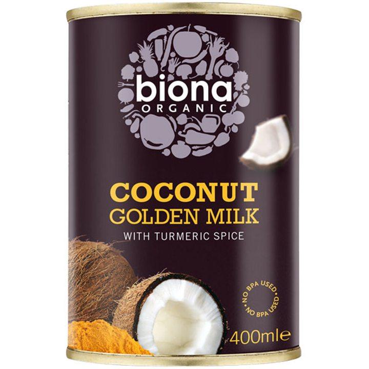 Био кокосово мляко с куркума 400мл