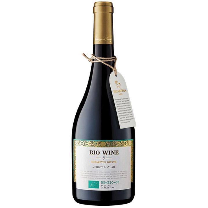 Био вино Мерло и Сира 750мл