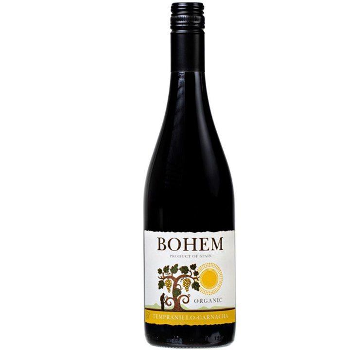 Био вино Темпранийо-Гренаш Bohem 750мл