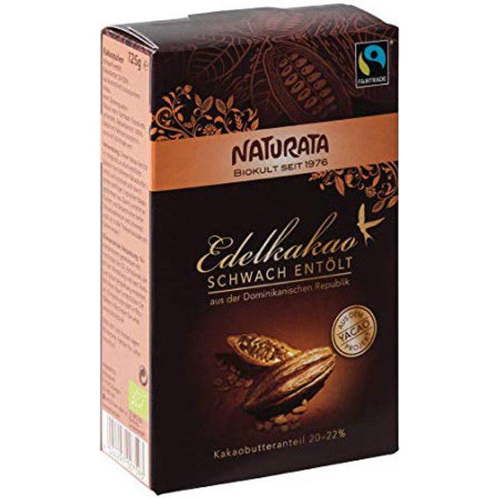 Био какао на прах с ниско съдържание на мазнини 125г