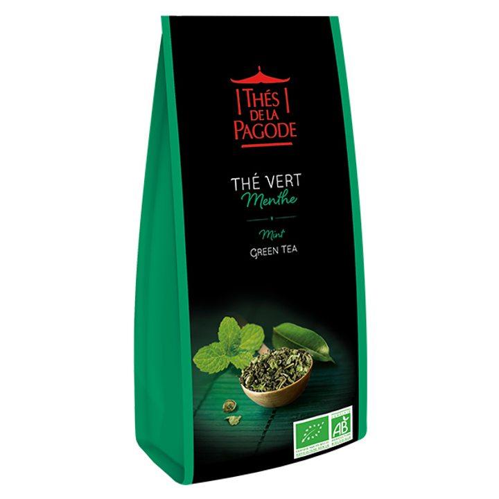 Био зелен чай с мента 100г