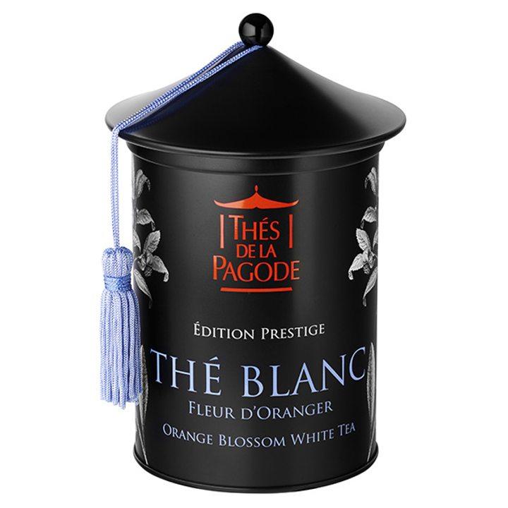 Био бял чай с портокалов цвят - метална кутия 100г