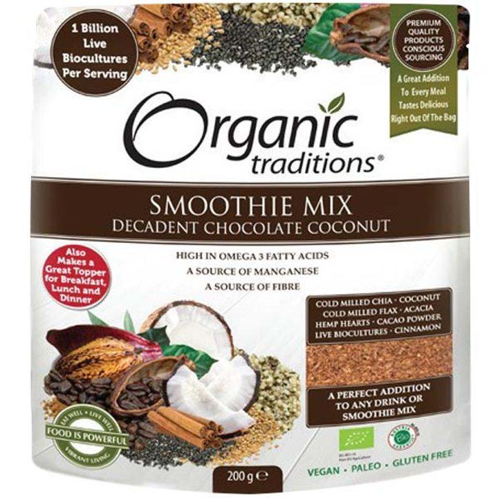 Био шоколадов смути микс с кокос и живи биокултури 200г