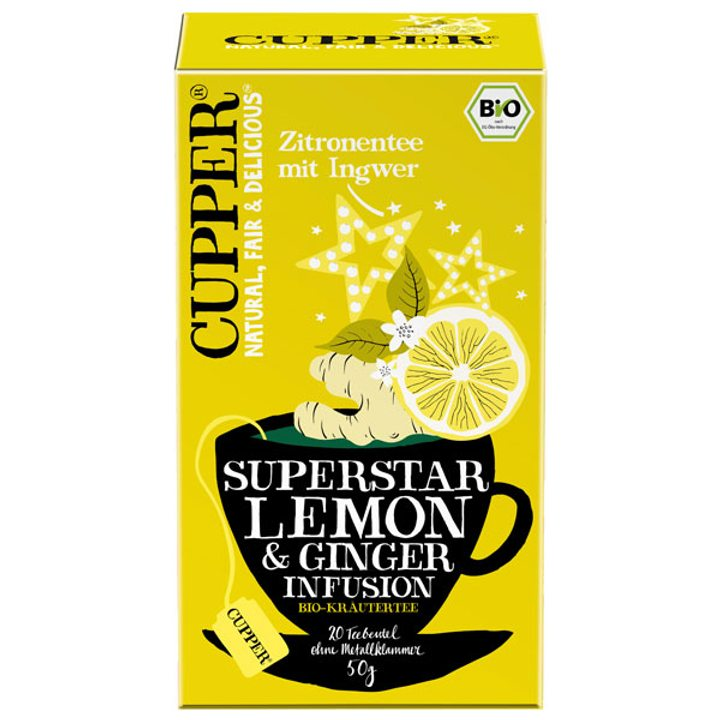 Био чай лимон и джинджифил 50г