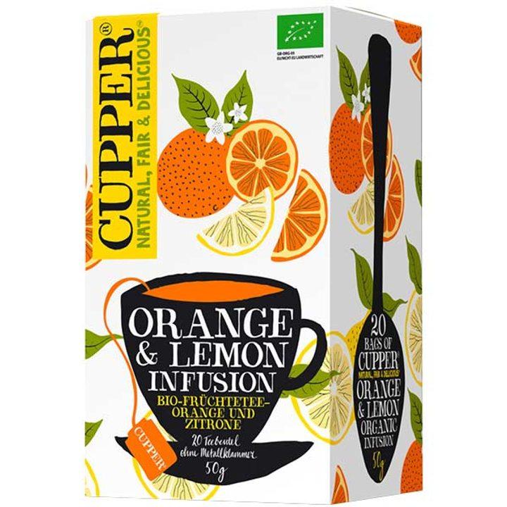 Био чай портокал и лимон 50г