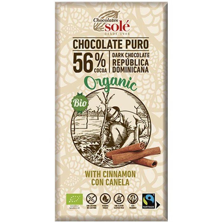 Био черен шоколад с канела 100г