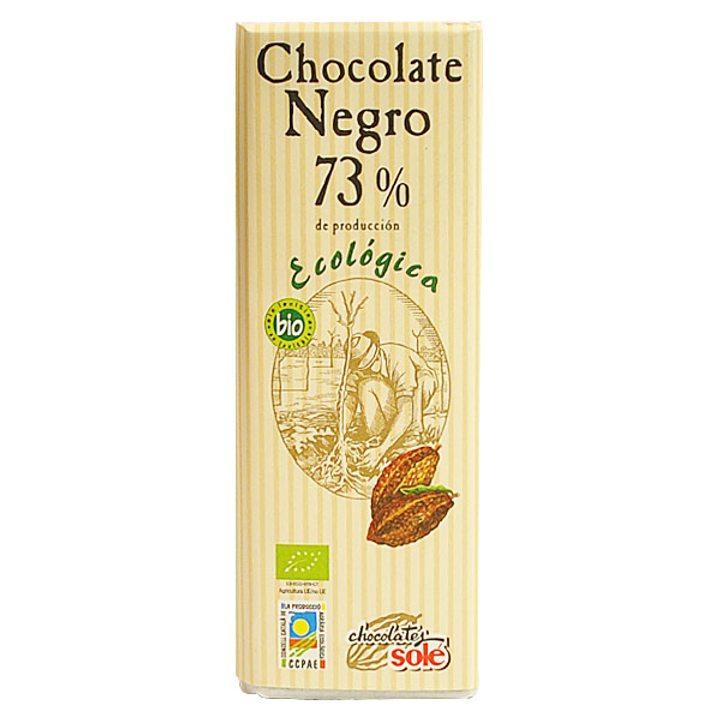 Био черен шоколад 25г