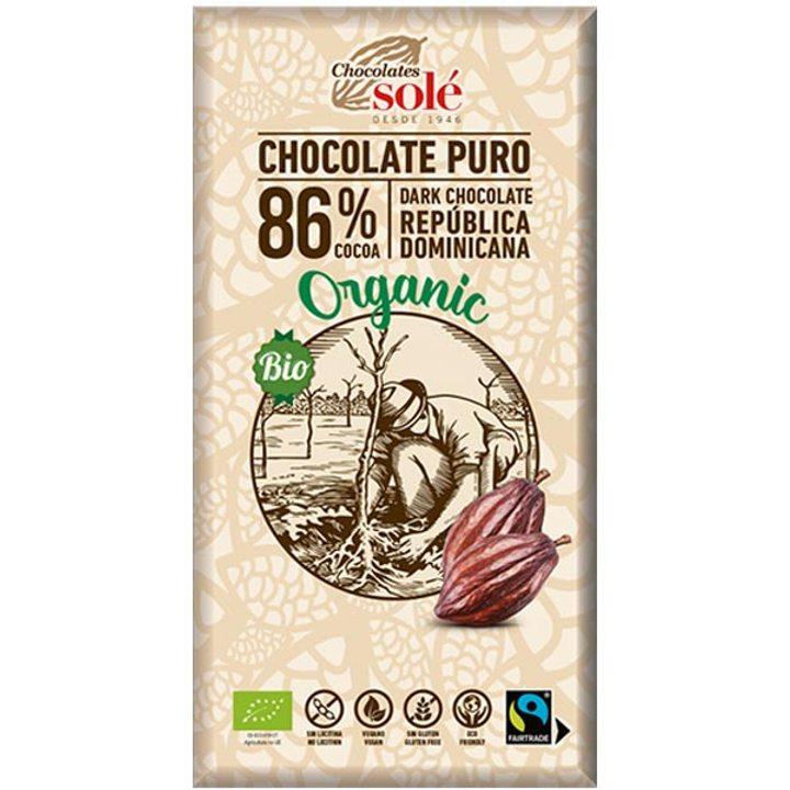 Био черен шоколад 86% - 100г