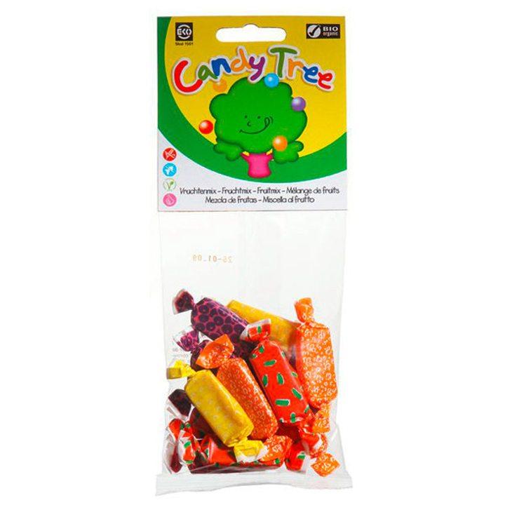 Био дъвчащи плодови бонбони микс 75г